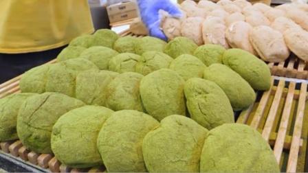 """韩国街头卖""""绿色""""面包,3块1个,每天卖出5000个还供不应求!"""