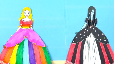 学校举办比赛,纸娃娃芭比和萨拉参加摘花、制作口红和裙子项目
