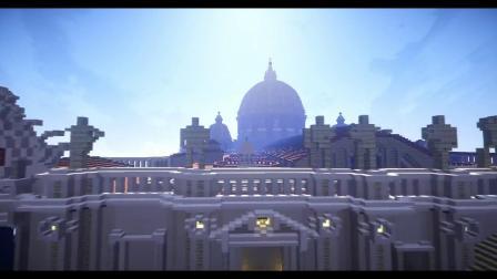 我的世界:还原容纳6万人的圣彼得大教堂!