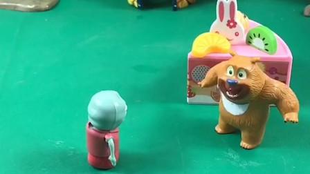 乔治的糖果被拿走了,小怪兽太不讲理,他这样是不对的