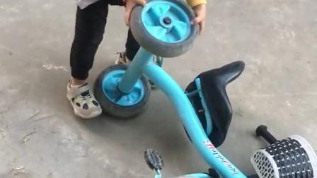 童年趣事:宝宝成长记,车轮子还能这么玩