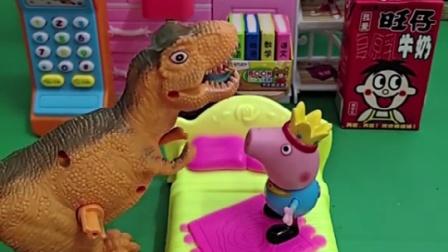 乔治要陪恐龙睡觉了,乔治梦见恐龙变大了