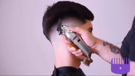 怎样运用各种卡尺和距齿来修剪渐变,美发详讲,发型师参考