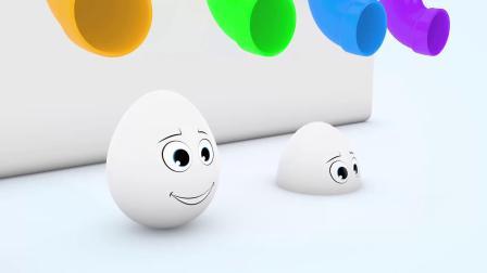 纯白色的蛋蛋和红色的玻璃球