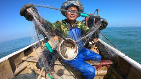 """阿阳捕鱼发现外海非同小可,竟打捞上一""""古碗"""",碗底还印着图案"""