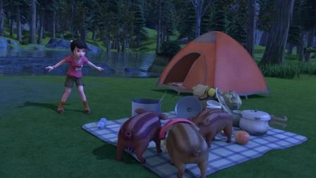 熊出没:强哥为了面子,一晚上没睡,全折腾赵琳的帐篷了