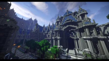 我的世界:国建史上最巨大城堡?只靠一个人爆肝造完了!