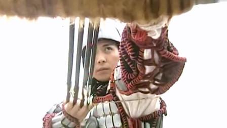 铁世文的九叶飞刀例无虚发,怎料被薛仁贵的穿云箭射落!