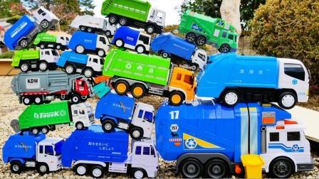 彩色环保车工程车玩具玩滑坡