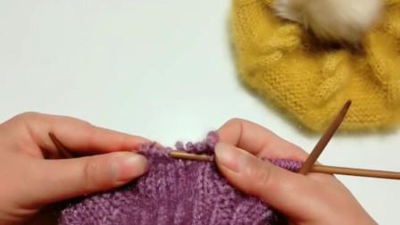 欢迎观看雪儿手工编织系列视频,推荐亲一个妹妹的贝雷帽的编制方法,大扭八贝雷帽的编织(三)