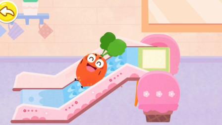 调皮红萝卜玩超级滑滑梯~益智亲子 宝宝巴士游戏