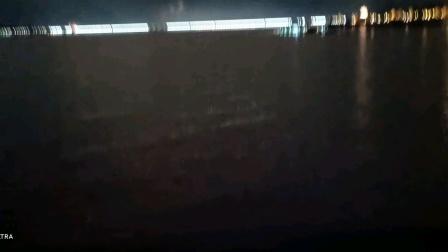 长江三峡大坝夜景灯火辉煌