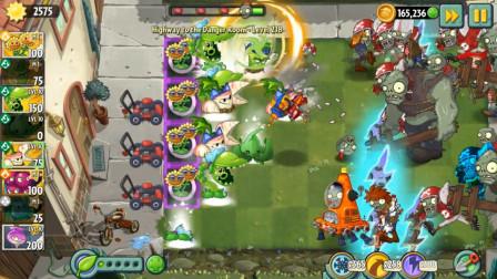 植物大战僵尸2:所有近战植物团队超级加强 这样的火力不容小觑