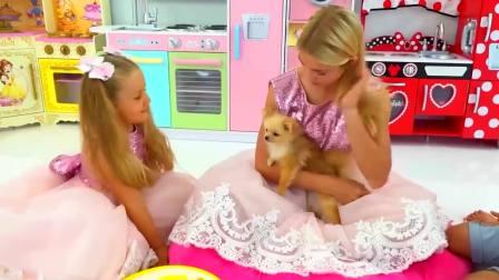 儿童亲子互动,小萝莉和姐姐想要这件裙子,快来看看吧