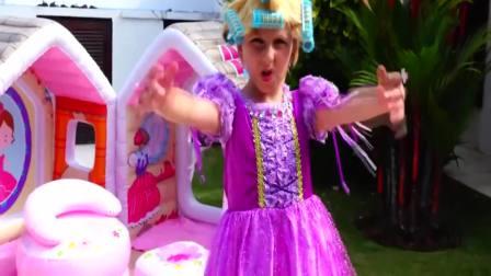 美国时尚儿童,小萝莉变成长发公主,真漂亮