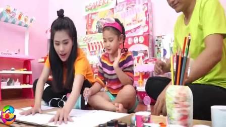 国外萌娃时尚:小姐姐和小萝莉搭建彩色小屋子,真好玩
