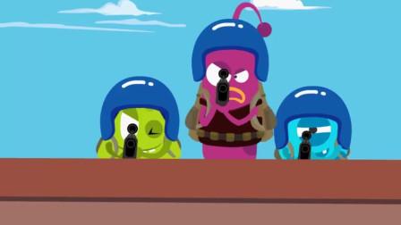 搞笑吃鸡动画:敌人穷追不舍,幸亏有福地相助