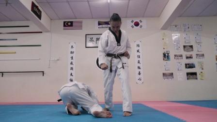 跆拳道太极七章品势应用技能,学会它可以防身