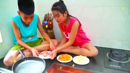 美国儿童时尚,小公主在地板上做熔岩早餐,看起来好好吃