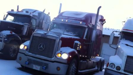 美式重型卡车,零下40度冷启动,声音感人