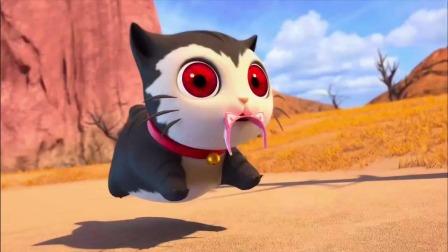 猪猪侠身上的嗲嗲草让猫咪发疯,没了蝴蝶结的菲菲太可怕了
