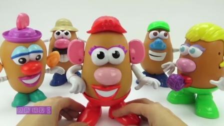 迪士尼土豆先生趣味玩具盒,米奇小房子,睡衣小英雄玩具蛋