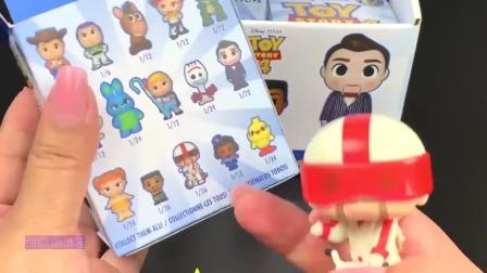 迪士尼玩具总动员惊喜盲盒,可爱的迷你玩偶小人仔