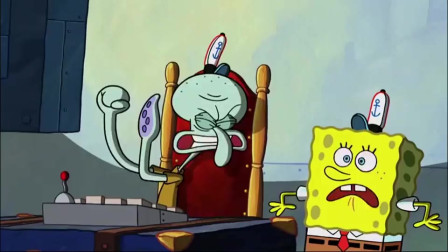 海绵宝宝和章鱼哥,调查监控,发现蟹堡秘方被痞老板偷走了