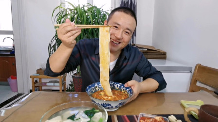 陕西特色面食杨凌蘸水面 做法简单味道美 在家就能做 10分钟搞定