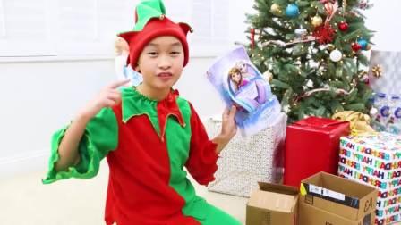国外少儿时尚,小伙伴和圣诞老人去送礼物,好好玩呀