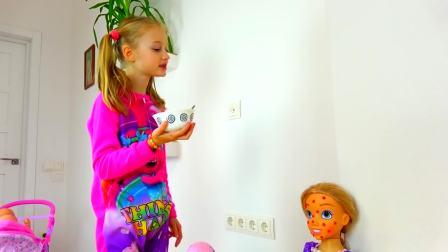 美国时尚儿童,小女孩装扮玩具娃娃,来看看吧