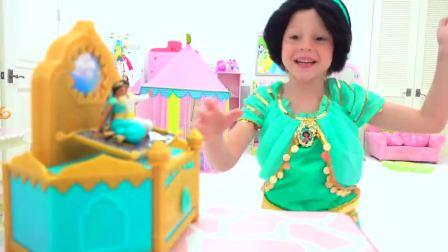国外少儿时尚,小女孩在变魔术,太棒了