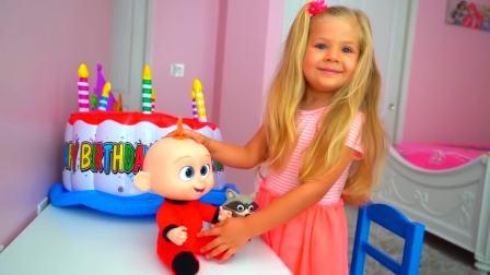 美国时尚儿童,小女孩的蛋糕玩具,真好玩