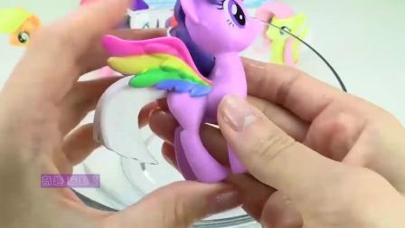 小马宝莉趣味玩具拆箱,小马驹的马尾太奇妙了