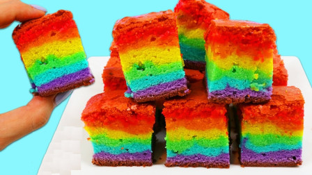制作美味的彩虹蛋糕