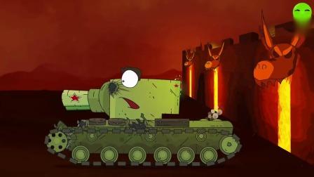 趣味动画:战斗力很强的大坦克