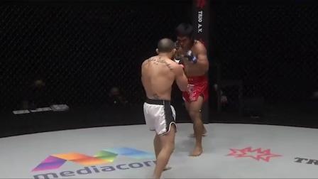 前冠军贝灵刚站立拼拳被打蒙 莱因克尔的重拳有多猛?!