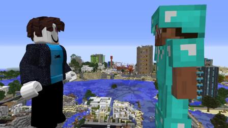 我的世界动画-史蒂夫大战ROBLOX-Mobi VS Games