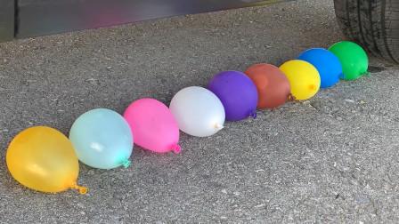 减压实验:汽车vs玩具汽车 车轮碾碎松脆柔软的东西 请勿模仿