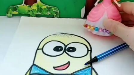 亲子有趣幼教视频:白雪的画到底谁涂花的