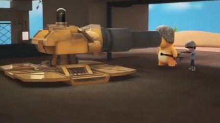 卡通故事:奶龙,这什么武器?既然还会拐弯