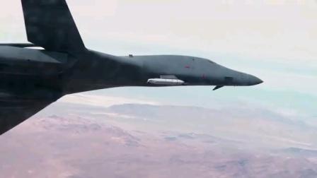 美国空军B-1B轰炸机外部携带JASSM巡航导弹测试视频