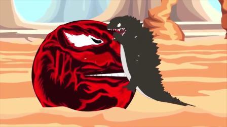 趣味动画:吃豆人太厉害,哥斯拉能够战胜它吗