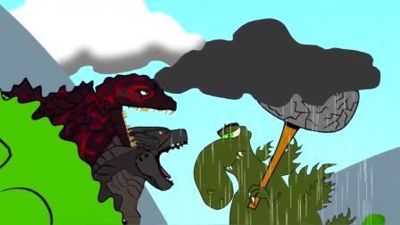 趣味动画:哥斯拉安慰恐龙