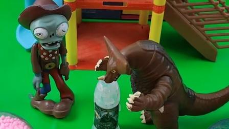 小鬼给怪兽找了一个奥特曼胶囊,说吃了就能变大,可坏蛋却变小了