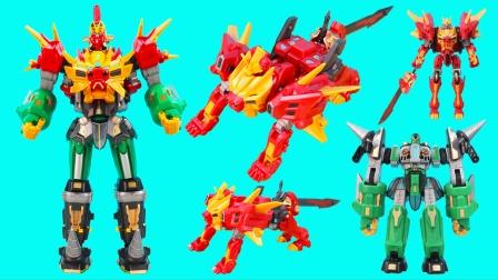 钢铁飞龙神兽武斗王二合体玩具