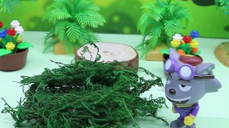 亲子有趣幼教动画:奥特曼掉进了灰太狼的陷阱里