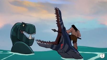 史前恐龙遇上凶残鳄鱼,只能请求人类帮忙,20年最热血的动画