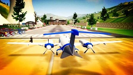 【永哥玩游戏】飞行员驾驶飞机空中操作模拟器 飞机降落