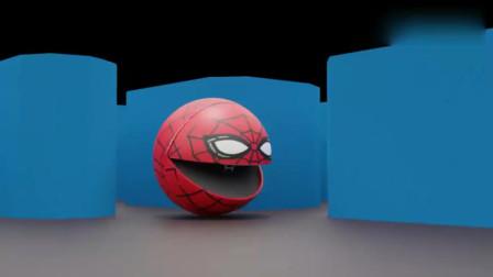 吃豆人大作战:蜘蛛侠吃豆人和尖牙吃豆人,谁更厉害?